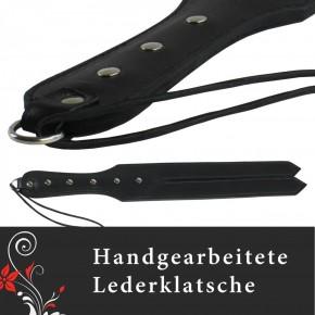 """TOP Qualität - GROSSE HANDGEFERTIGTE RINDSLEDER Klatsche / """"SCHLANGENZUNGE"""""""
