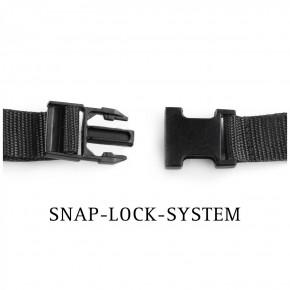 NEU - FESTSITZENDER STRAPON inkl. PREMIUM Silikondildo mit SNAP-LOCK-SYSTEM - 17,0 cm lang - schwarz